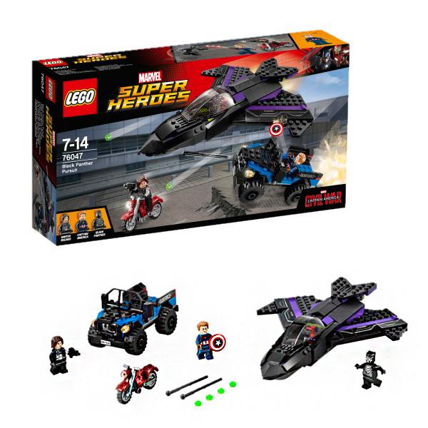 Lego Super Heroes 76047 Лего Супер Герои Преследование Чёрной Пантеры