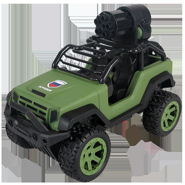 Купить Wincars YK-2021 Джип военный Р/У с солдатиками, стреляет снарядами, USB-зарядка, Радиоуправляемая машинка ТМ Wincars