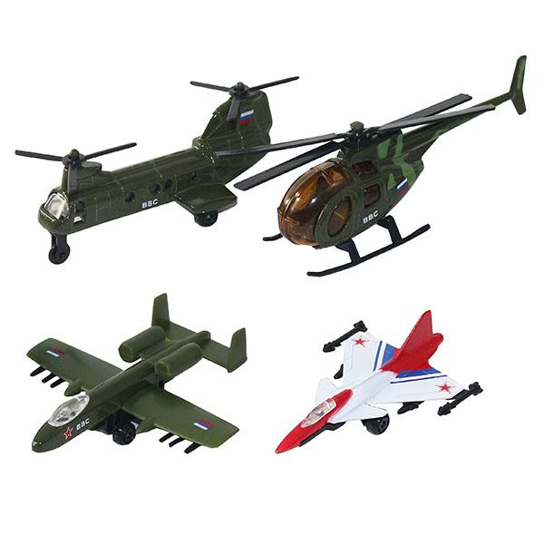 Купить Wincars 20415 Набор военных летательных средств 4 штуки, Игровой набор ТМ Wincars