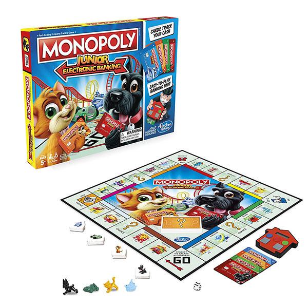Купить Hasbro Monopoly E1842 Настольная игра Монополия Джуниор с карточками, Настольная игра Hasbro Monopoly