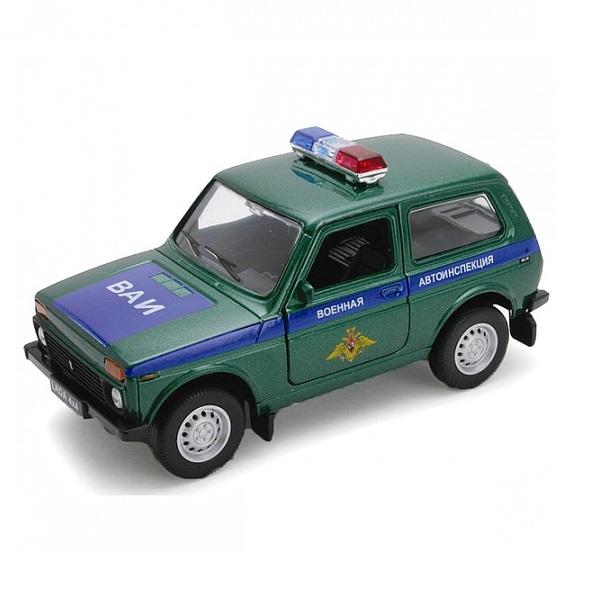 Машинка Welly Welly 42386MC Велли Модель машины 1:34-39 LADA 4x4 ВОЕННАЯ АВТОИНСПЕКЦИЯ по цене 409