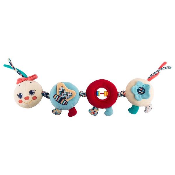 Развивающие игрушки для малышей Happy Snail Happy Snail 19HS003PG Игрушка-подвес Весёлая гусеница Камилла по цене 1 199