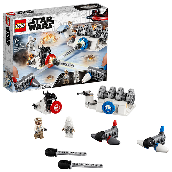 Купить LEGO Star Wars 75239 Конструктор ЛЕГО Звездные Войны Разрушение генераторов на Хоте, Конструкторы LEGO
