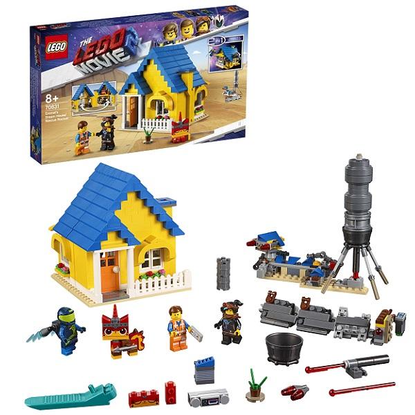 Купить LEGO Movie 2 70831 Конструктор ЛЕГО Фильм 2 Дом мечты: Спасательная ракета Эммета!, Конструкторы LEGO