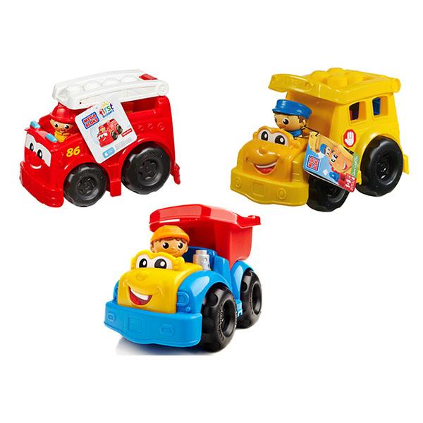 Mattel Mega Bloks CND62 Мега Блокс Маленькие транспортные средства (в ассортименте)