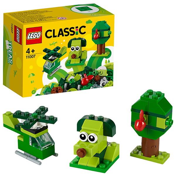 Купить LEGO Classic 11007 Конструктор ЛЕГО Классик Зеленый набор для конструирования, Конструкторы LEGO