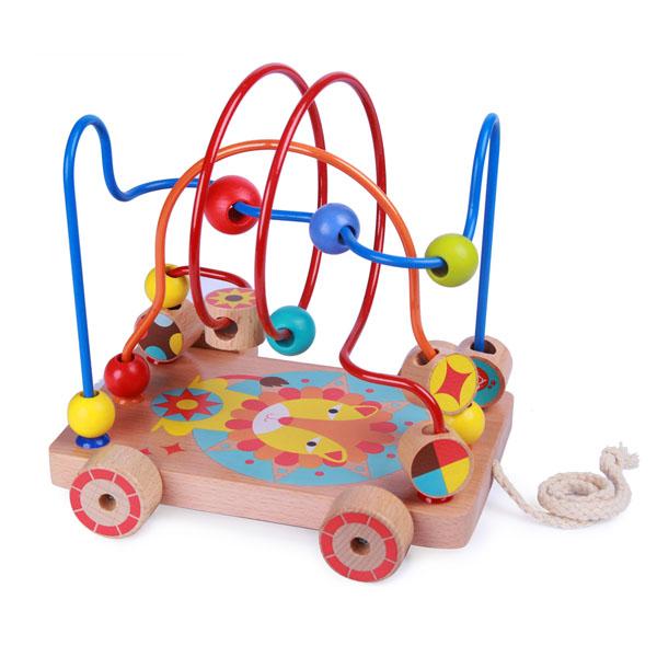 Купить Lucy&Leo LL160 Лабиринт-каталка Лев , Деревянные игрушки Lucy&Leo