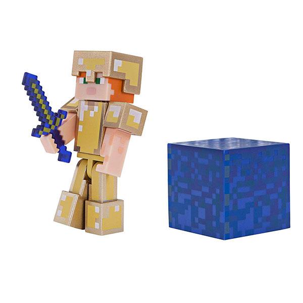 Купить Minecraft 19970 Майнкрафт фигурка Alex in Gold Armor, Минифигурка Minecraft