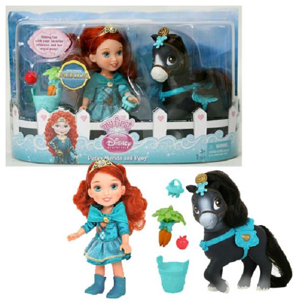Disney Princess 755060 Принцессы Дисней Малышка с конем 15 см (в ассортименте)