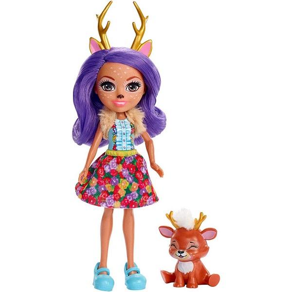 Куклы и пупсы Mattel Enchantimals FXM75 Кукла с питомцем Данесса Оления фото