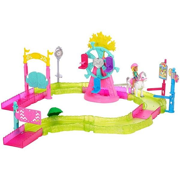 Купить Mattel Barbie FHV70 Барби В движении Игровой набор Парк аттракционов , Куклы и пупсы Mattel Barbie