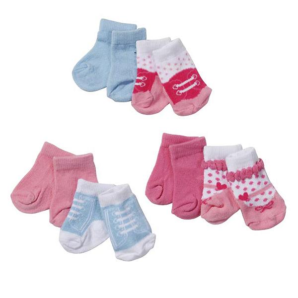 Купить Zapf Creation Baby born 819-517 Бэби Борн Носки 2 пары, 3 (в ассортименте), Одежда для куклы Zapf Creation