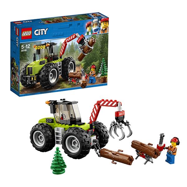 Купить Lego City 60181 Лего Город Лесной трактор, Конструкторы LEGO