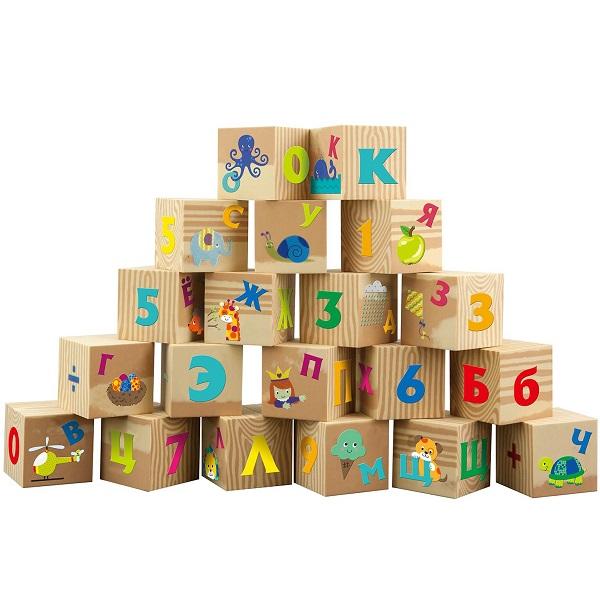Купить LITTLE HERO 3045L Мягкие кубики Буквы и цифры (рус. яз), Развивающие игрушки для малышей LITTLE HERO