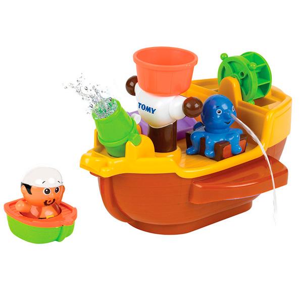 TOMY BathToys T71602 Томи Игрушки для ванны Пиратский корабль для ванной - Игрушки для малышей