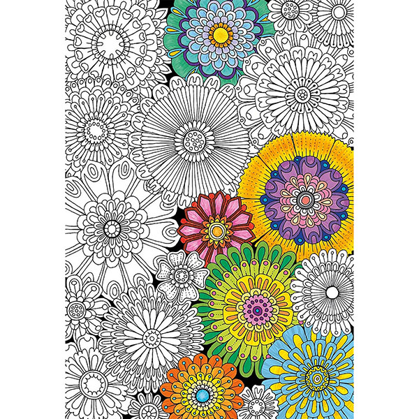Educa 17090 Пазл-раскраска 300 деталей Цветы - Настольные игры