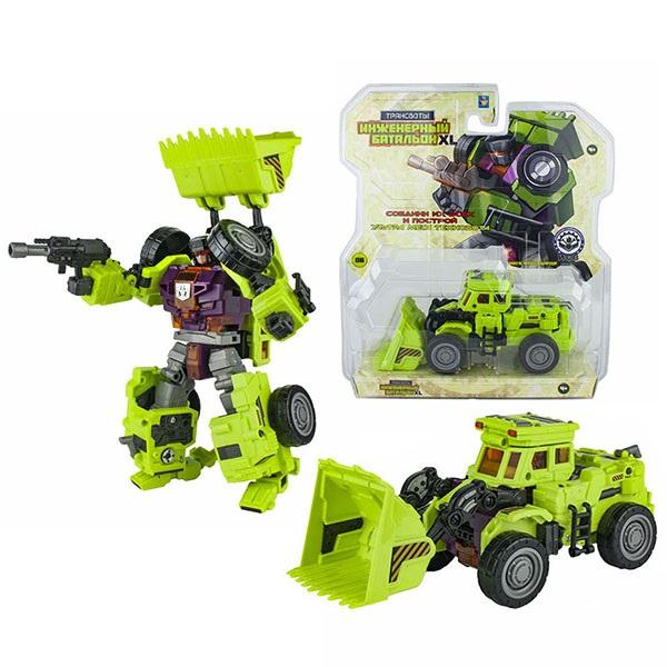 Купить 1toy T16433 Трансботы Инженерный батальон XL: Мега Фронтлифтер , 19 см, Игрушечные роботы и трансформеры 1toy