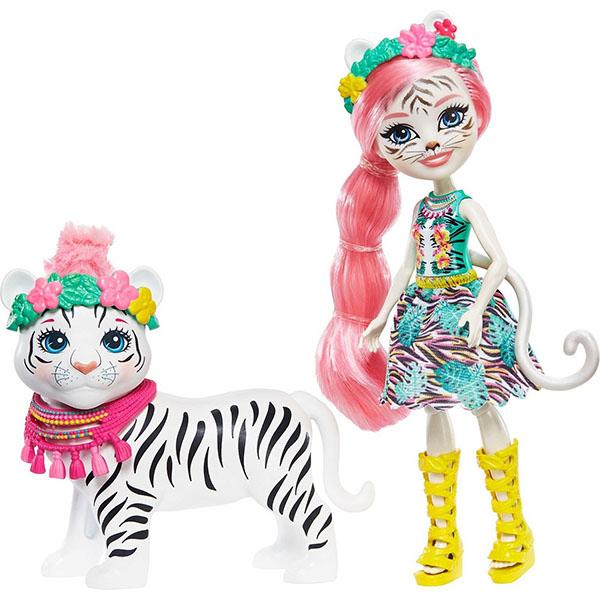 Mattel Enchantimals GFN57 Куклы с большими зверюшками КУКЛА Тэдли Тайгер и тигр Китти