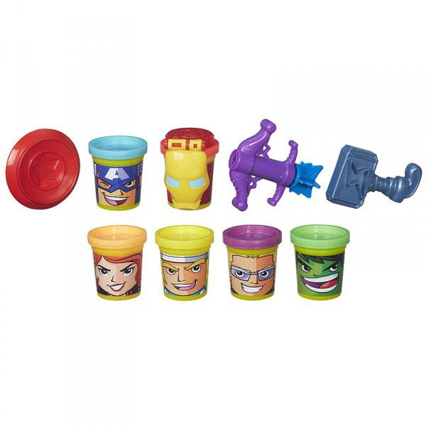 Купить Hasbro Play-Doh B5528 Коллекция героев Мстителей, Пластилин Hasbro Play-Doh