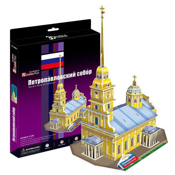 Купить Cubic Fun C140h Кубик фан Петропавловский Собор (Россия), 3D пазлы Cubic Fun