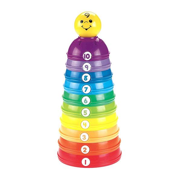 Купить Mattel Fisher-Price W4472 Фишер Прайс Развивающие стаканчики Пирамидка , Развивающие игрушки для малышей Mattel Fisher-Price