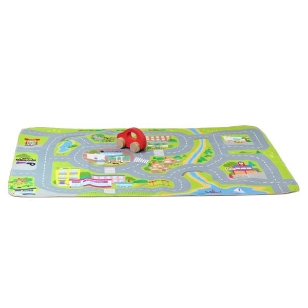 Купить Десятое королевство TD03702 Игрушка для детей Автодорога (1 машинка, коврик 71х54 см)