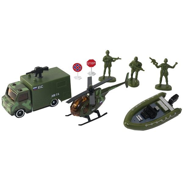 Машинки и техника ТМ Wincars — Wincars 30815C Набор военной техники