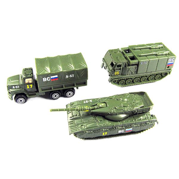 Купить Wincars 86048-PT2049-4 Набор металлических машин военная техника 3 штуки, Машинка ТМ Wincars
