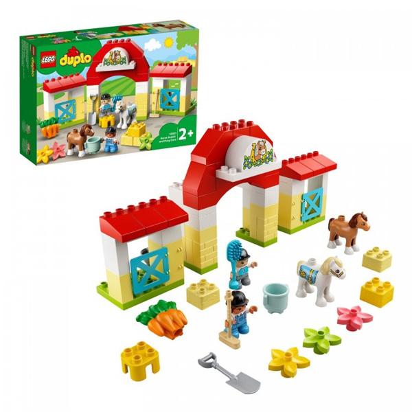 Купить LEGO DUPLO 10951 Конструктор ЛЕГО ДУПЛО Конюшня для лошади и пони, Конструкторы LEGO