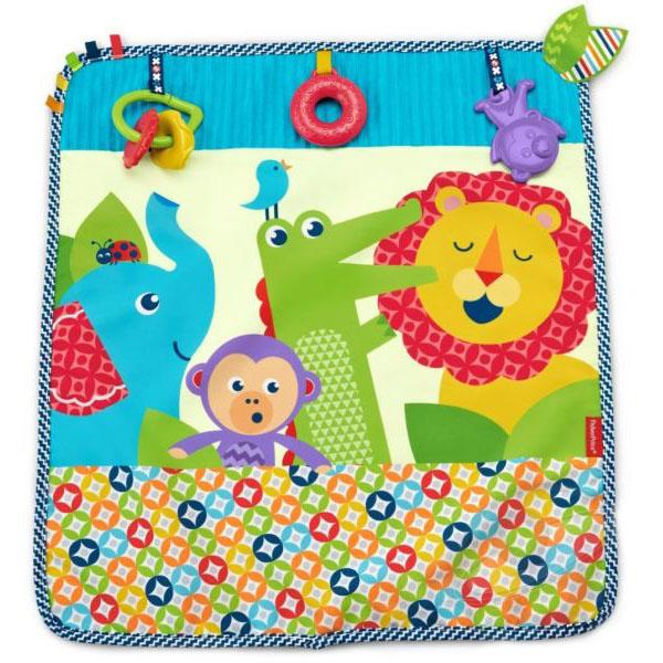 Купить Mattel Fisher-Price DYW52 Фишер Прайс Мягкое одеяло Пойдем на прогулку , Развивающие игрушки для малышей Mattel Fisher-Price