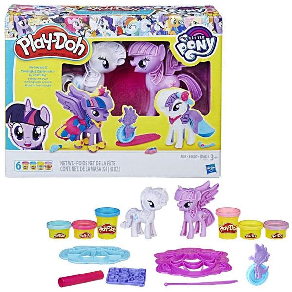 Купить Hasbro Play-Doh B9717 Набор Пластилина Твайлайт и Рарити , Игровые наборы и фигурки для детей Hasbro Play-Doh