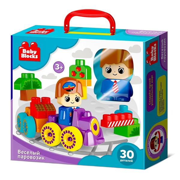 Купить Десятое королевство TD03908 Конструктор пластиковый Baby Block Веселый паровозик 30 деталей