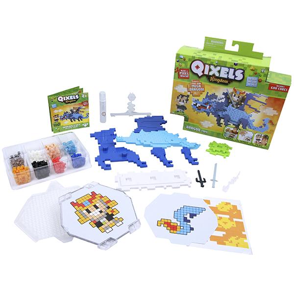 Купить Qixels 87035 Квикселс Набор для творчества Королевство Гнев дракона , Набор для творчества Qixels