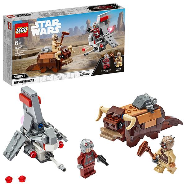 Купить LEGO Star Wars 75265 Конструктор ЛЕГО Звездные войны Микрофайтеры: Скайхоппер T-16 против Банты, Конструкторы LEGO