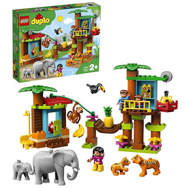 Купить LEGO DUPLO 10906 Конструктор ЛЕГО ДУПЛО Тропический остров, Конструктор LEGO