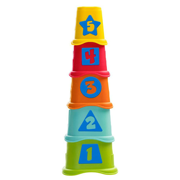Купить CHICCO TOYS 9373AR Пирамидка Stacking Cups, Развивающие игрушки для малышей CHICCO TOYS