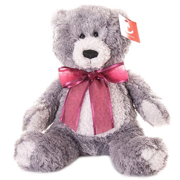 Купить Aurora 15-328 Аврора Медведь серый, 20 см, Мягкая игрушка Aurora