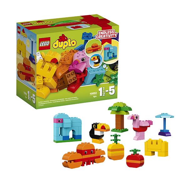 Купить LEGO DUPLO 10853 Конструктор ЛЕГО ДУПЛО Набор деталей для творческого конструирования, Конструктор LEGO