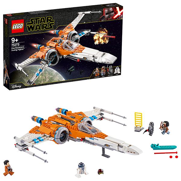 Купить LEGO Star Wars 75273 Конструктор ЛЕГО Звездные войны Истребитель типа Х По Дамерона, Конструкторы LEGO