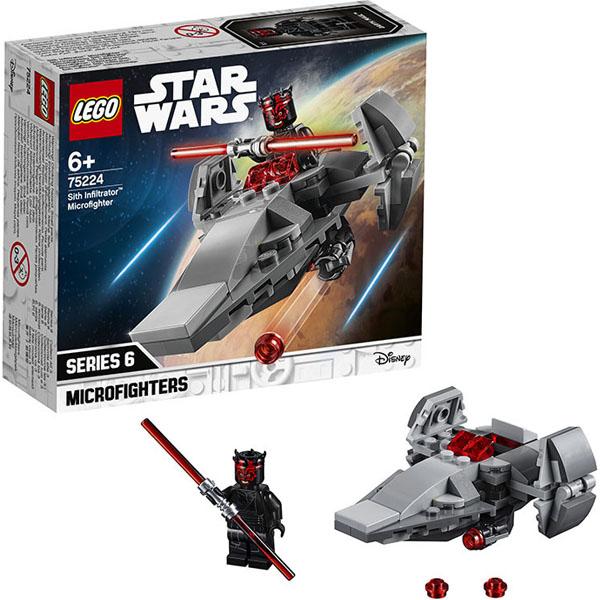 Купить Lego Star Wars 75224 Конструктор Лего Звездные войны Микрофайтеры: Корабль-лазутчик ситхов, Конструктор LEGO