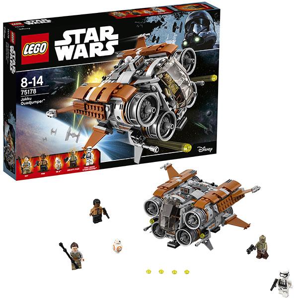 Купить LEGO Star Wars 75178 Конструктор ЛЕГО Звездные Войны Квадджампер Джакку, Конструктор LEGO