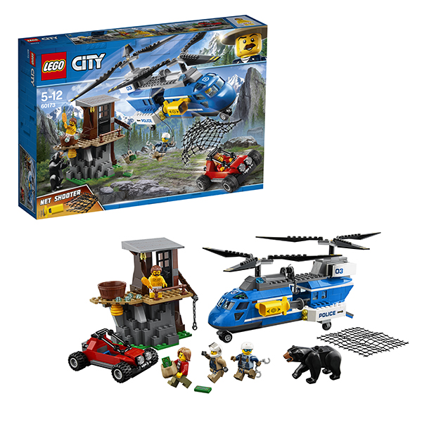 Купить LEGO City 60173 Конструктор ЛЕГО Город Погоня в горах, Конструкторы LEGO