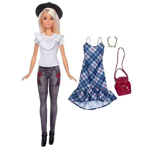 Куклы и пупсы Mattel Barbie FJF68 Барби Игра с модой Куклы & набор одежды фото