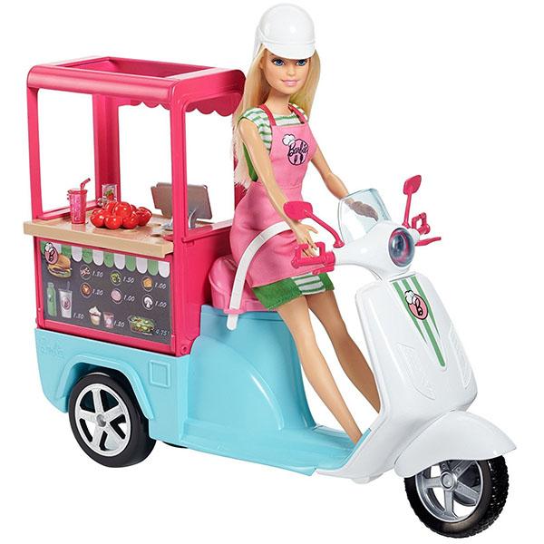 Mattel Barbie FHR08 Барби Бистро-скутер, арт:156120 - Barbie, Куклы и аксессуары