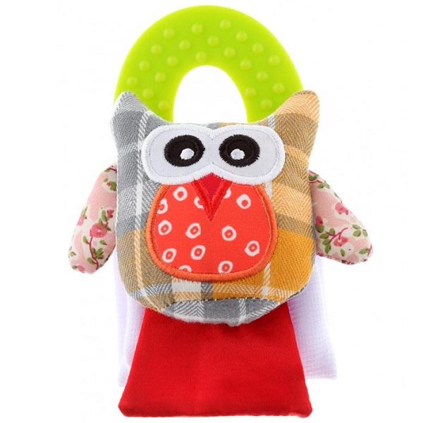 Купить ROXY-KIDS RBT20024 Игрушка развивающая на руку с прорезывателем Совенок Угу , Развивающие игрушки для малышей ROXY-KIDS