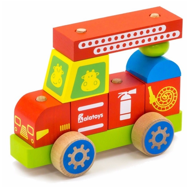Купить Alatoys 01ALLLA Конструктор-каталка Пожарная машина , Деревянные игрушки Alatoys