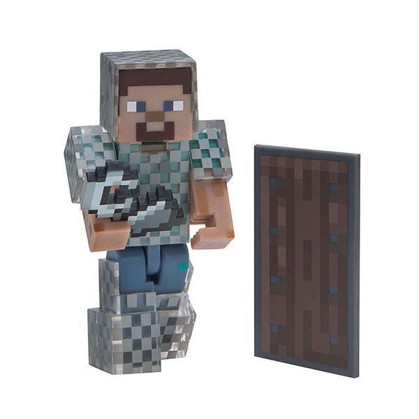 Купить Minecraft 16493 Майнкрафт фигурка Steve in Chain Armor, Минифигурка Minecraft