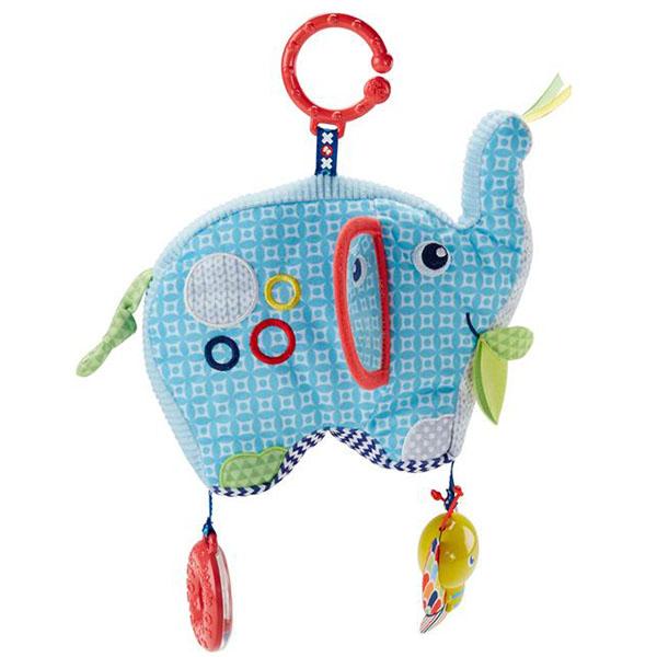 Купить Mattel Fisher-Price DYF88 Фишер Прайс Плюшевая игрушка Слоненок , Развивающие игрушки для малышей Mattel Fisher-Price