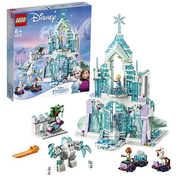 Купить LEGO Disney Princess 43172 Конструктор ЛЕГО Принцессы Дисней Волшебный ледяной замок Эльзы, Конструкторы LEGO