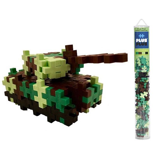 Plus Plus 4027 Разноцветный конструктор для создания 3D моделей (камуфляж) - Конструкторы для мальчиков и девочек